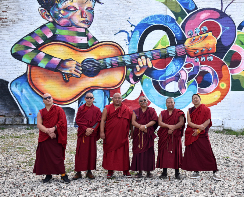 Tibetan Buddhist Monks of Gaden Shartse Phukhang Monastery: Jan 1 - 14, 2016 at the Cozmic Cafe in Placerville